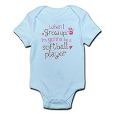Kids Future Softball Player Infant Bodysuit