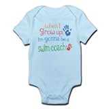 Kids Future Swim Coach  Baby Onesie