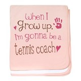 Kids Future Tennis Coach baby blanket