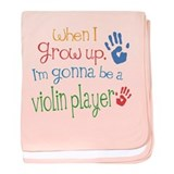 Kids Future Violin Player baby blanket