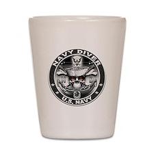 USN Navy Diver ND Skull Don't Shot Glass