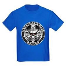 USN Machinists Mate MM Skull T