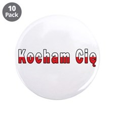 "Kocham Cie - I Love You 3.5"" Button (10 pack)"