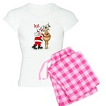 Santa and reindeer with the n Women's Light Pajama