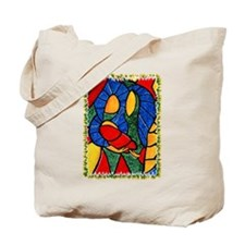 Colorful Abstract Nativity Christmas Tote Bag