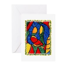 Colorful Abstract Nativity Christmas Cards 10 Pack