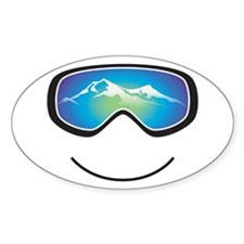 Happy Skier/Boarder Stickers