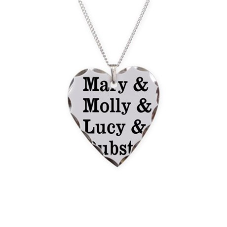 Mary Molly Lucy Dubstep Necklace Heart Charm