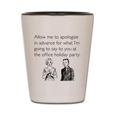 Office Holiday Party Shot Glass