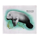 Manatee Throw Blankets