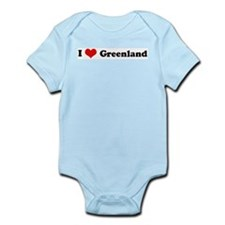 I Love Greenland Infant Creeper
