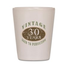 Vintage 30th Birthday Shot Glass