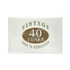 Vintage 40th Birthday Rectangle Magnet (10 pack)