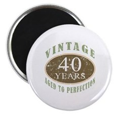 Vintage 40th Birthday Magnet