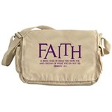 Hebrew 11:1 Messenger Bag