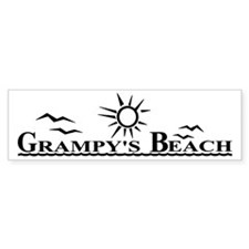 Grampy's Beach Bumper Sticker