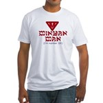 Minyan man Jewish Fitted T-Shirt