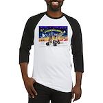 XmasSunrise-2Sheps-2cats Baseball Jersey