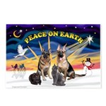 XmasSunrise-2Sheps-2cats Postcards (Package of 8)