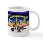 XmasSunrise-2Sheps-2cats Mug