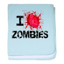 I Heart Zombies baby blanket