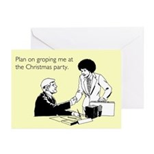 Christmas Party Groping Greeting Cards (Pk of 10)