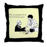 Christmas Party Groping Throw Pillow