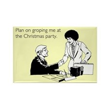 Christmas Party Groping Rectangle Magnet