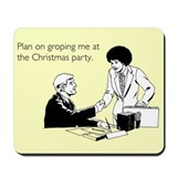 Christmas Party Groping Mousepad
