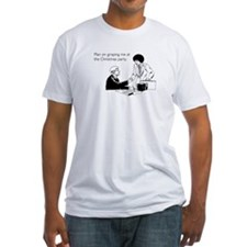 Christmas Party Groping Fitted T-Shirt