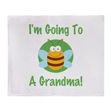 Bee A Grandma Throw Blanket