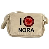 I Love Nora Brothers &amp; Sisters Messenger Bag