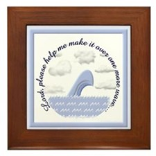 Wave Prayer (Drawing) Framed Tile