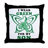 I Wear Green for my Son Throw Pillow