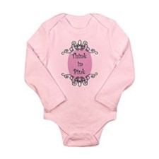 Think in Pink Long Sleeve Infant Bodysuit