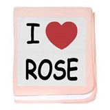 I heart rose baby blanket