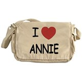 I heart annie Messenger Bag