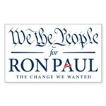People for Ron Paul Sticker (Rectangle 50 pk)