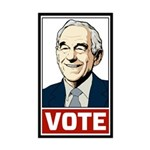 Vote Ron Paul Sticker (Rectangle 10 pk)