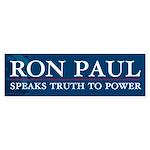 Ron Paul Speaks Truth Sticker (Bumper 10 pk)