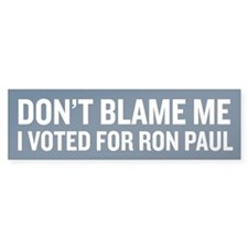 I Voted For Ron Paul Bumper Sticker