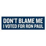 I Voted For Ron Paul Sticker (Bumper)