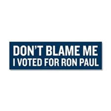 I Voted For Ron Paul Car Magnet 10 x 3