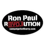 Ron Paul Revolution Oval Sticker (50 pk)