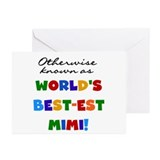 Otherwise Known Best Mimi Greeting Cards (Pk of 10