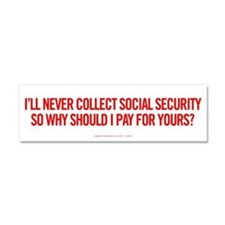 Social Security Car Magnet 10 x 3