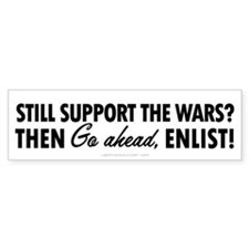 Support the Wars? Bumper Sticker