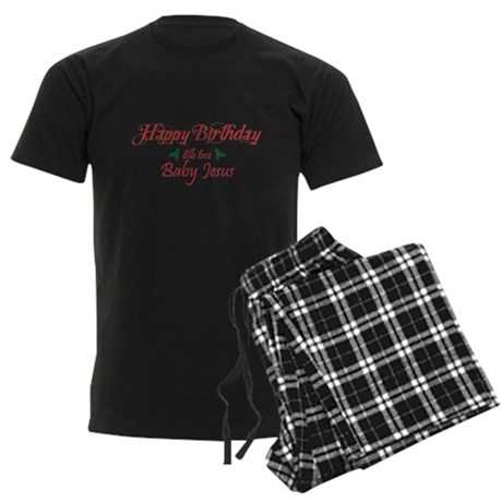 Happy Birthday Baby Jesus Mens Dark Pajamas