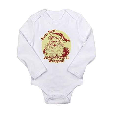 Always Keep It Wrapped Long Sleeve Infant Bodysuit