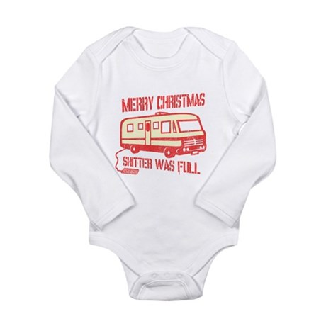 Merry Christmas, Shitter Was Long Sleeve Infant Bo